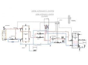 Схема обвязки № 4 «Подключение с другими источниками тепла, автоматизация и погодозависимость»